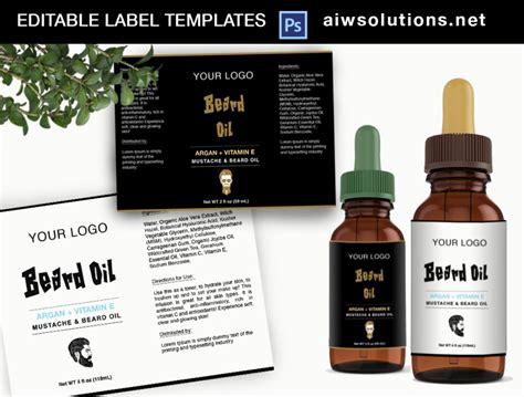 beard oil label id aiwsolutions