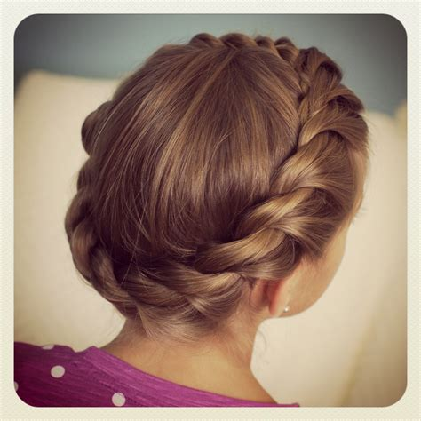 crown rope twist braid updo hairstyles cute girls