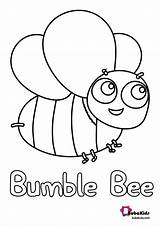 Bee Coloring Bumble Bubakids Bumblebee Printable Dot sketch template