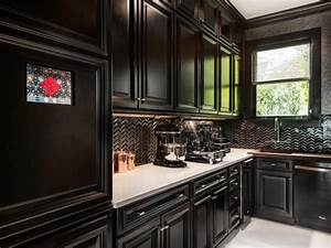 black kitchens are the new white hgtv39s decorating With kitchen colors with white cabinets with outdoor brand stickers