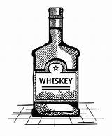Whiskey Bottle Label Drawn Premium Vectorified sketch template