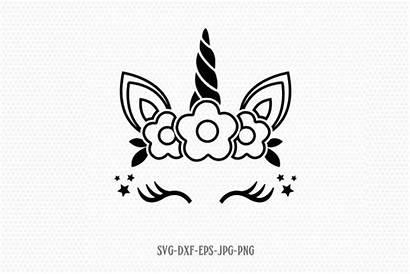 Unicorn Svg Birthday Eyelashes Face Stencil Clipart