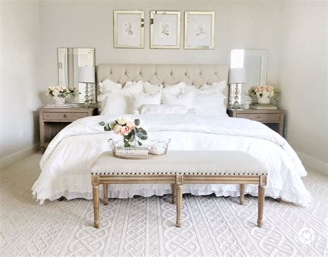bedroom bedroom decor tufted headboard french country