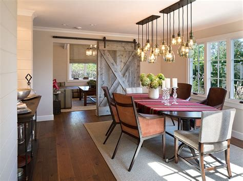 Dining Room Lighting : Unassumingly Chic Farmhouse Style Dining Room Ideas