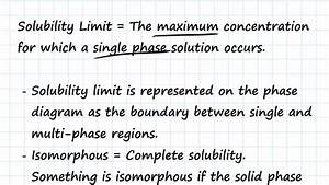 Solubility Limits And Determining Phase Present