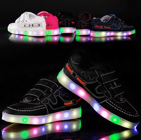 kids sneakers with lights fashion led light shoes child baby kids l luminous
