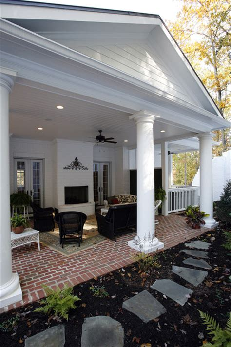 classical covered patio traditional exterior  metro  jonathan miller architects
