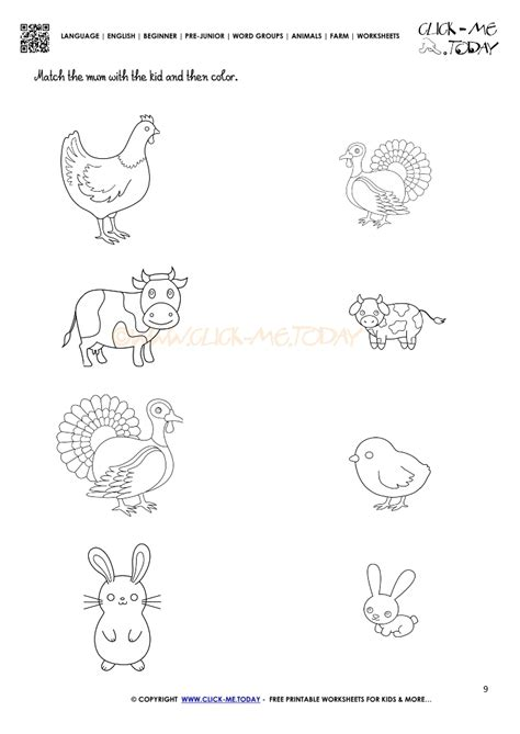 farm animals worksheet activity sheet 9