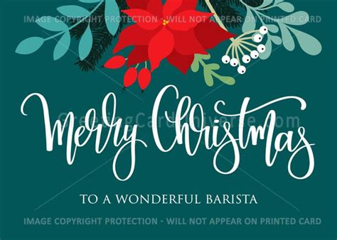 barista merry christmas poinsettia rose hip berries