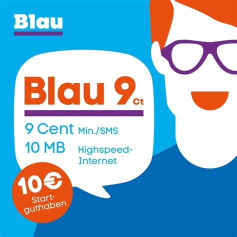 blau  cent prepaid sim karte ohne vertragsbindung bei