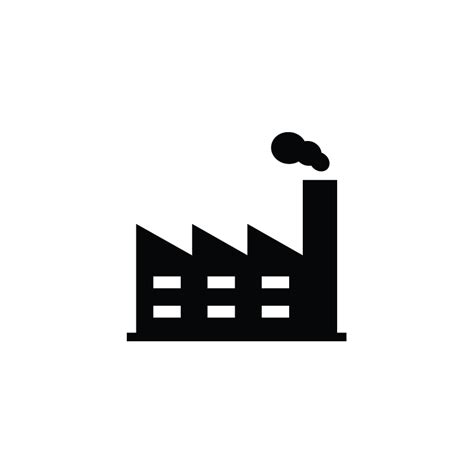 production factory industrial industry vector icon