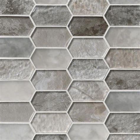 Savoy Picket Pattern Crystallized Glass Mosaic Tile   SMOT