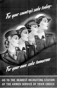 WWII Propaganda Poster: Women Lured to Military