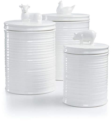 martha stewart kitchen canisters martha stewart collection 3 pc figural animal canister