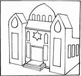 Synagogue Coloring Pages Clipart Jewish Temple Drawing Buildings Print Library Colouring Jesus Clip Luke Pre Printable sketch template