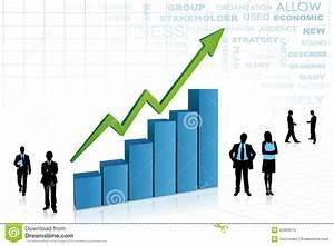 Job Growth Chart Business People Aorund Bar Graph Stock Photos Image