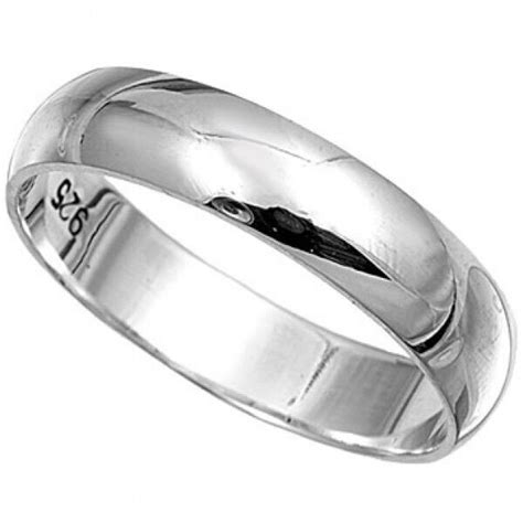 sterling silver plain band ring mm wide sizes   wedding