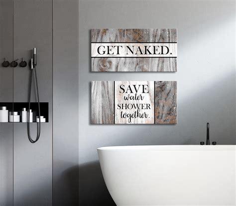 bathroom wall art  piece funny bathroom wall art set