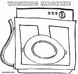 Washer Coloring sketch template