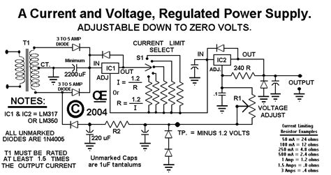 Power Supply For Regulated Current Voltage Simple