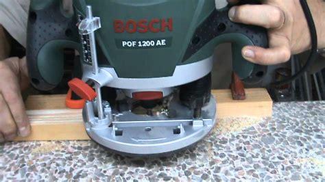 tutorial bosch pof 1200 ae 3