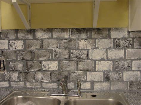 faux kitchen backsplash diy kitchen updates on a budget faux brick kitchen backsplash living on and cents