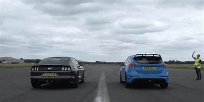 Mustang Ford Drag Race Focus Rs Cars