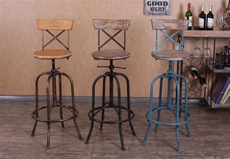 Best Quality Industrial Loft Style Wrought Iron Bar Stools
