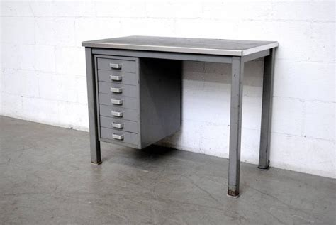 small industrial desk small metal industrial desk for at 1stdibs