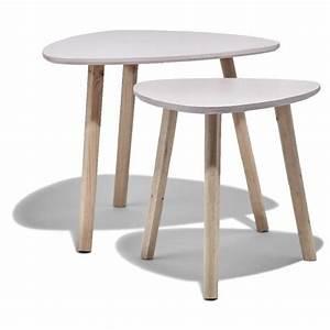 Table Basse Rose : table basse scandinave gigogne rose naturel emma x2 table basse et d 39 appoint salon meuble ~ Teatrodelosmanantiales.com Idées de Décoration