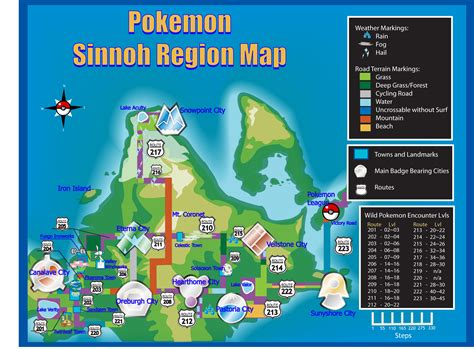 Sinnoh Map And Routes