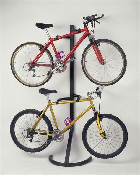 cycle stands for garage racor 2 bike rack gravity freestanding stand storage garage bicycle mount hanger ebay