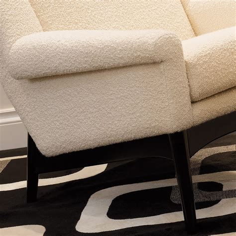 Armchair And Footstool by Exclusive Contemporary Italian Armchair And Footstool
