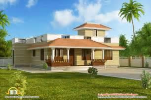 one story house designs beautiful single story kerala model house 1395 sq ft