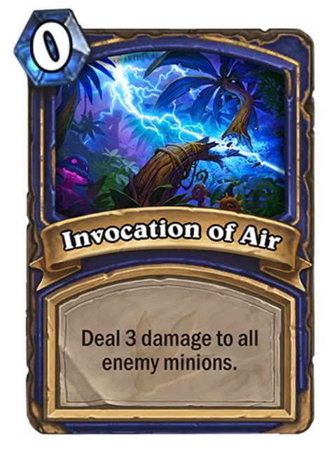 Decks Hearthstone August 2017 by Invocation Of Air Hearthstone Card