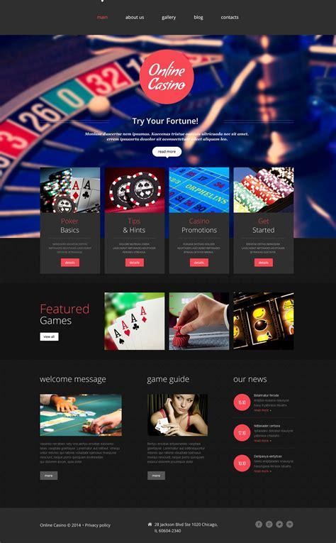 web casino website template