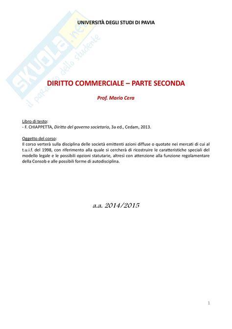 diritto commerciale dispensa lezioni corso complete appunti di diritto commerciale