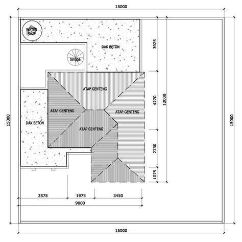 denah rumah minimalis atap contoh denah atap rumah minimalis