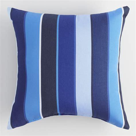 outdoor accent pillows sunbrella cobalt blue outdoor throw pillow world
