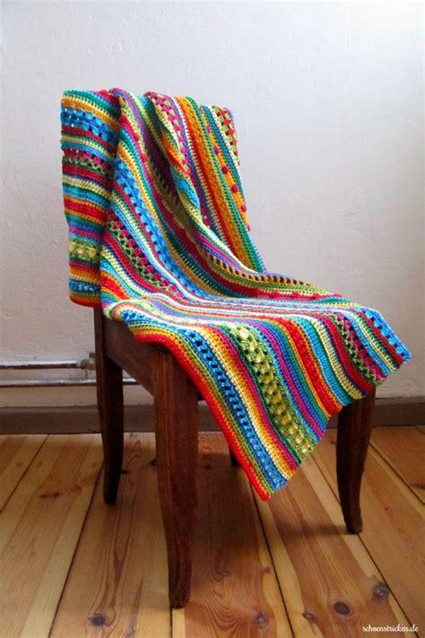 decke stricken oder häkeln schoenstricken de neue farbkombis f 252 r die regenbogen decke
