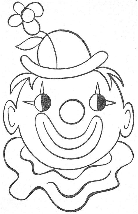 Kleurplaat Clowsgezicht by Pin By Shoshanav On Coloring Pages Carnival Crafts