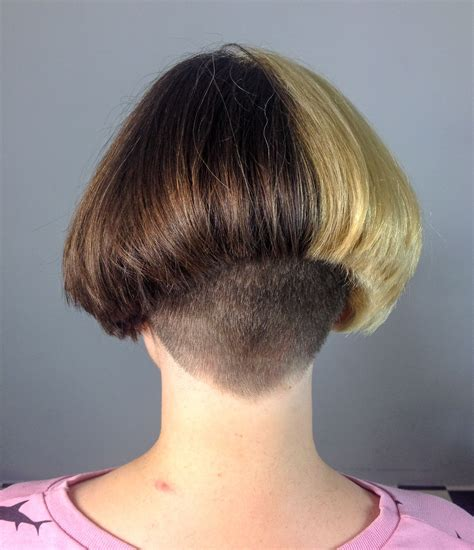 two toned bob hairstyles fade haircut