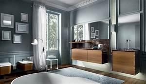 Armoire Murale Salle De Bain : meuble salle de bain en bois armoires sous vasque et baignoire ~ Teatrodelosmanantiales.com Idées de Décoration