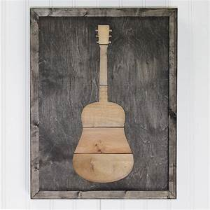 Rustic Guitar Art With Reclaimed Pallet Wood Wall Decor