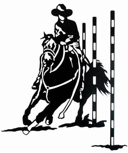 Barrel Racing Pole Bending Graphics Western Horse