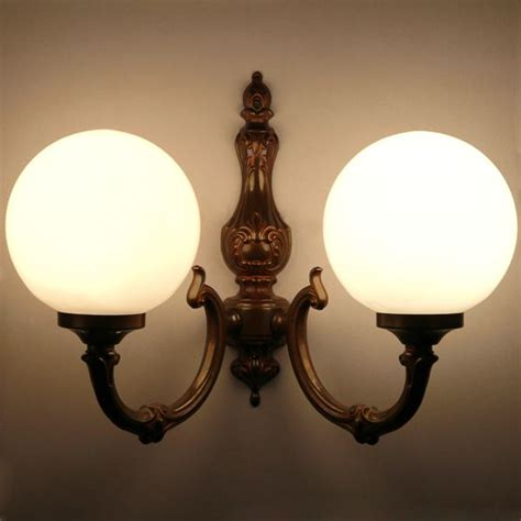 ben 2 arm traditional wall light globe wall light by