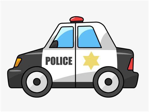 سيارة الشرطة كرتون السيارة المدمجة مادة Png صورة للتحميل مجانا