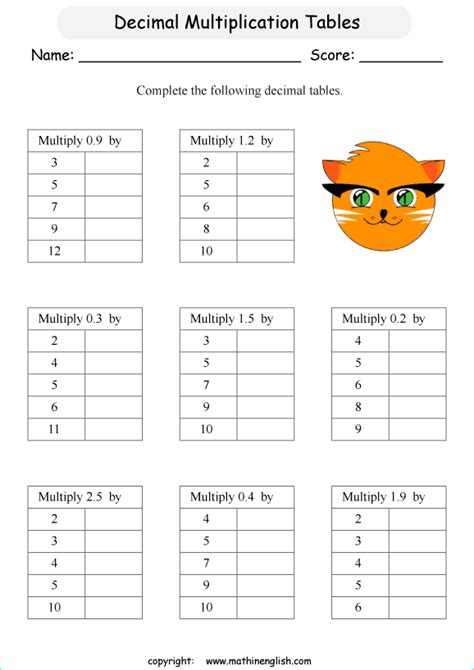 multiply  decimal tenths   numbers math