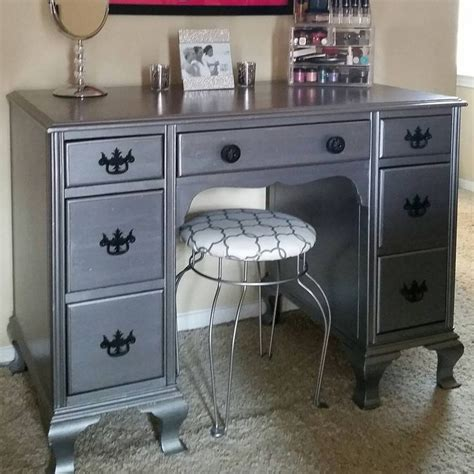 desk turned   vanity  neat dreams design