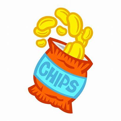 Chips Bag Potato Clipart Packet Vector Template